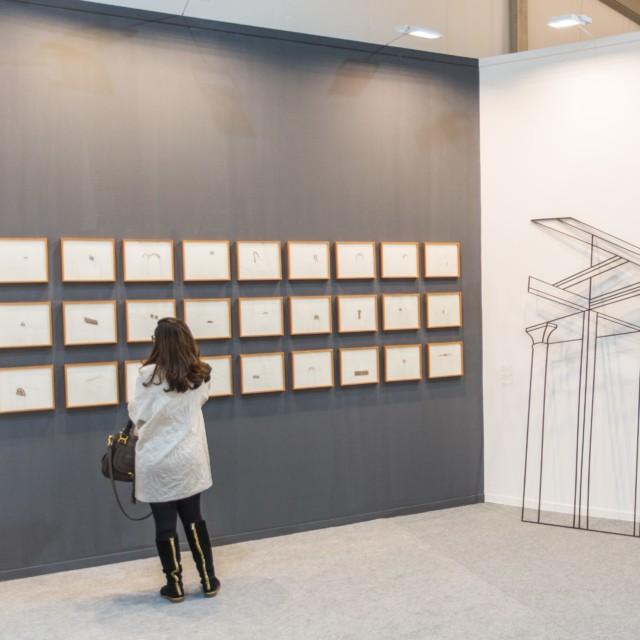 Experimenter's booth at India Art Fair 2018