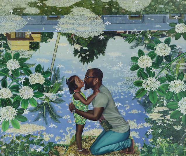 Ratheesh. Kiss, 2018. Oil on Canvas. Courtsey of Galerie Mirchandani + Steinruecke.
