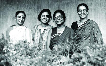 Artists Madhvi Parekh, Nalini Malani, Arpita Singh and Nilima Sheikh, 1987. Courtesy of Madhvi Parekh