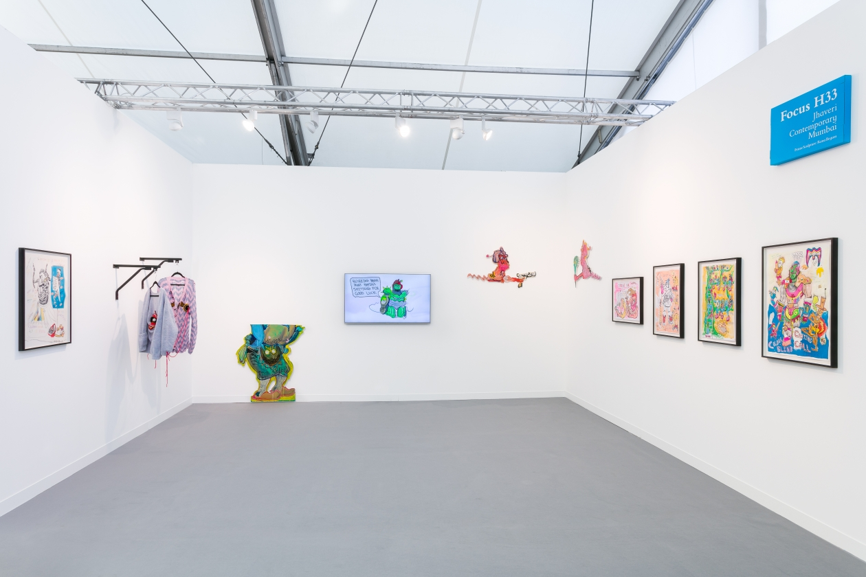 Jhaveri Contemporary's booth at Frieze London, 2018. Courtesy of Mark Blower