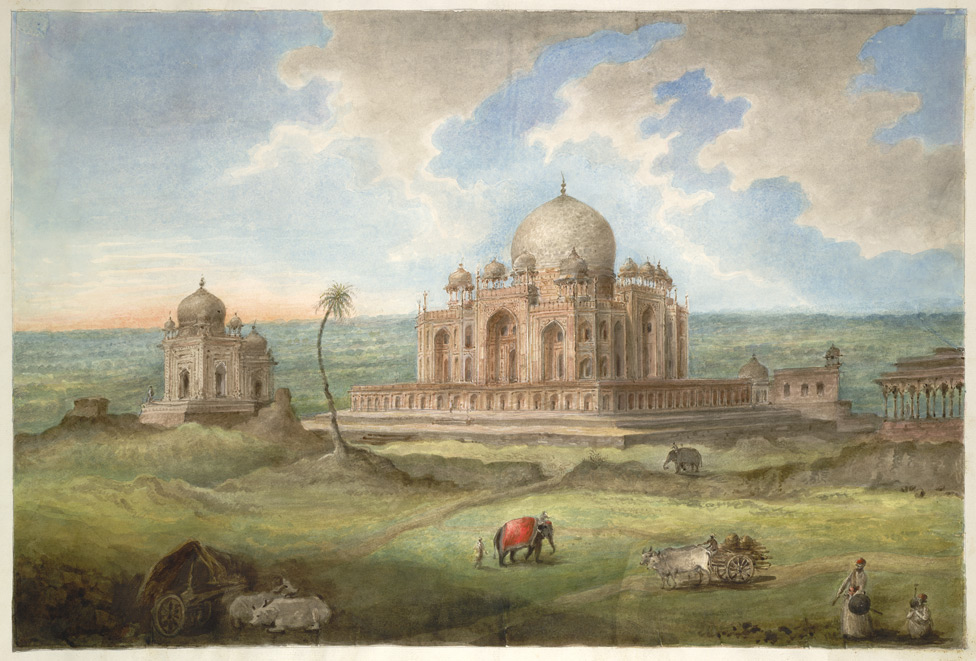 Sita Ram. The tomb of the Emperor Humayun with Surrounding Tombs and Pavilions, 1815. Courtesy of the British Library