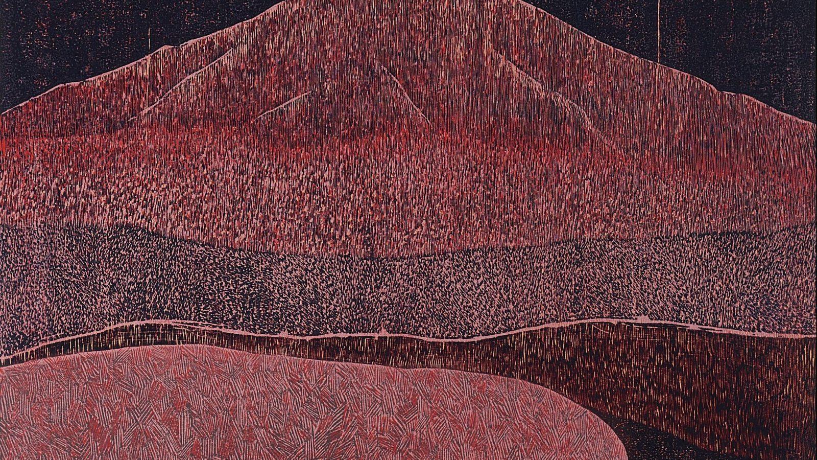 Soghra Khurasani. Skin I, 2018. Woodcut print on paper. Image courtesy of TARQ