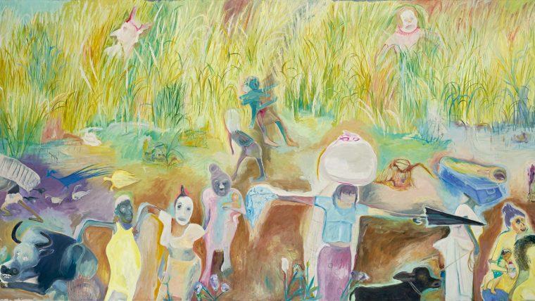 Sosa Joseph. Your Earth, My World. Oil on Canvas. Image courtesy of Galerie Mirchandani + Steinruecke