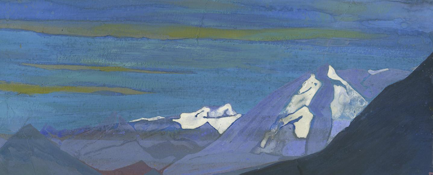 Nicholas Roerich. Himalayan Shows. Tempera on cardboard. Courtesy of DAG