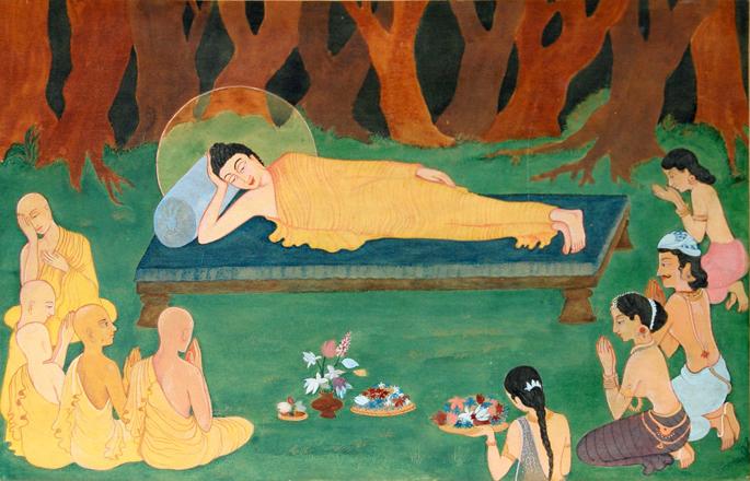 Atasi Barua. Parinirvana of the Buddha. Courtesy of Project88