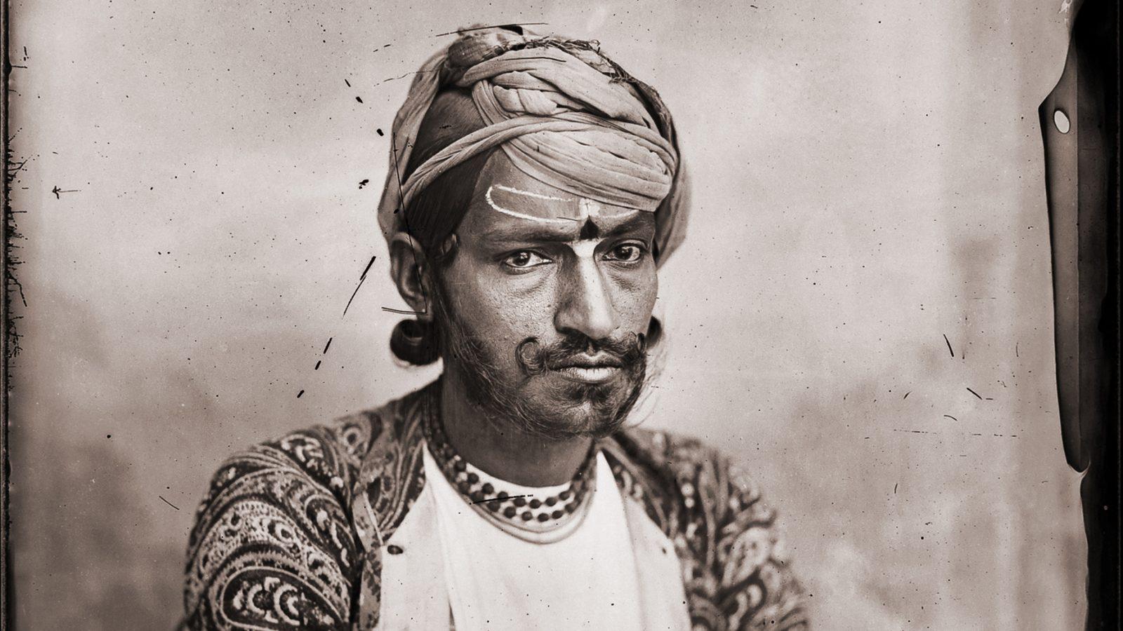 Maharaja Sawai Ram Singh II. Self-portrait. Courtesy of Art Heritage