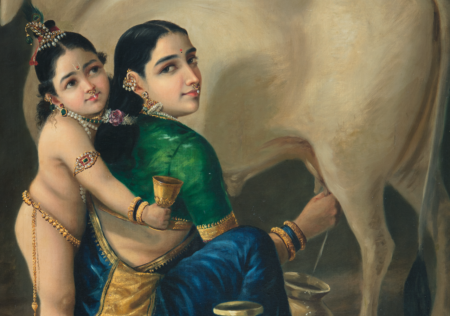 Raja-Ravi-Varma.-Yashodha-and-Krishna.-Courtesy-of-DAG