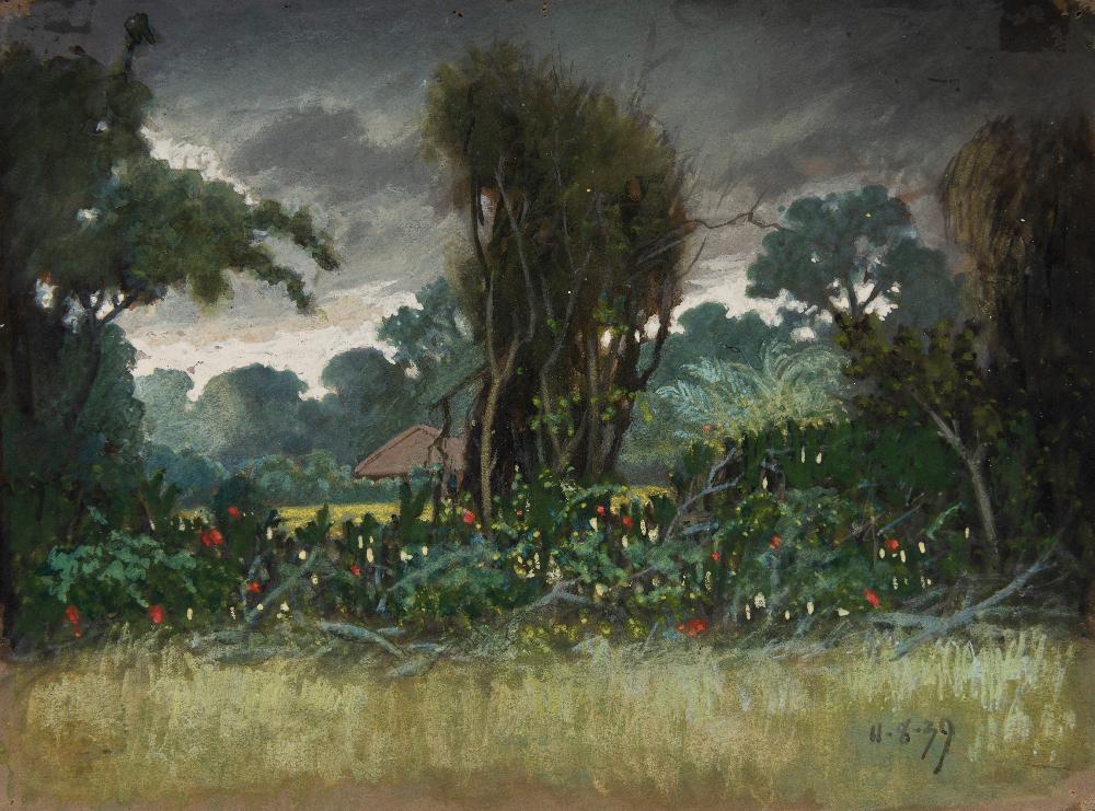 Rustom Sisodia. Untitled, 1936. Watercolours. Courtesy of Chatterjee & Lal
