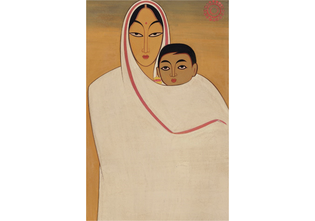 Jamini Roy. Mother and Child, 1921. Courtesy of DAG