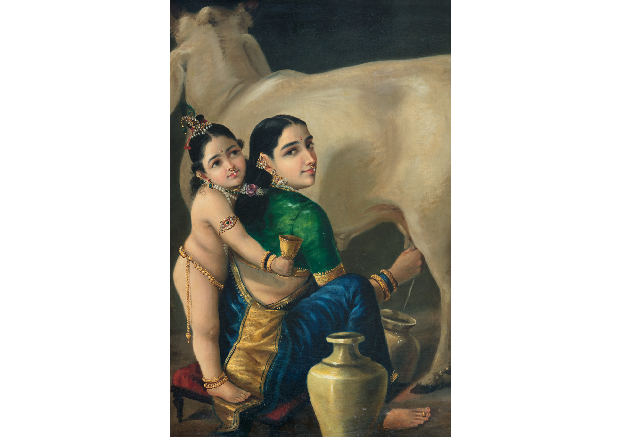 Raja Ravi Varma. Yashodha and Krishna. Courtesy of DAG