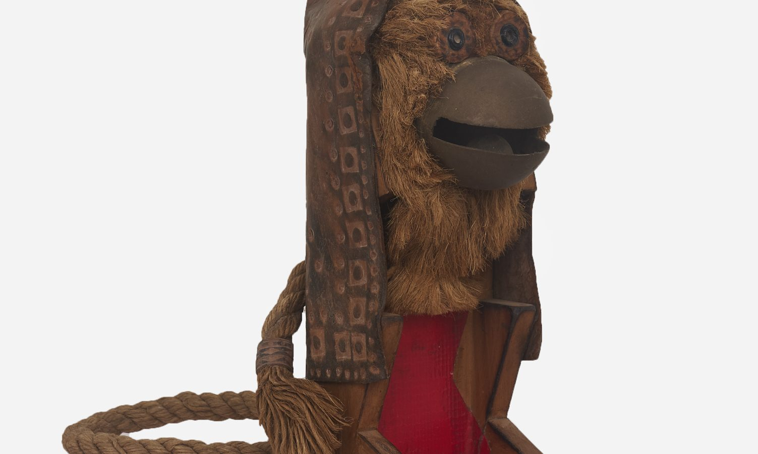 K. G. Subramanyan. Untitled (Monkey), Wooden toy with mixed media, 1960s - 90s. Courtesy of Akara Art