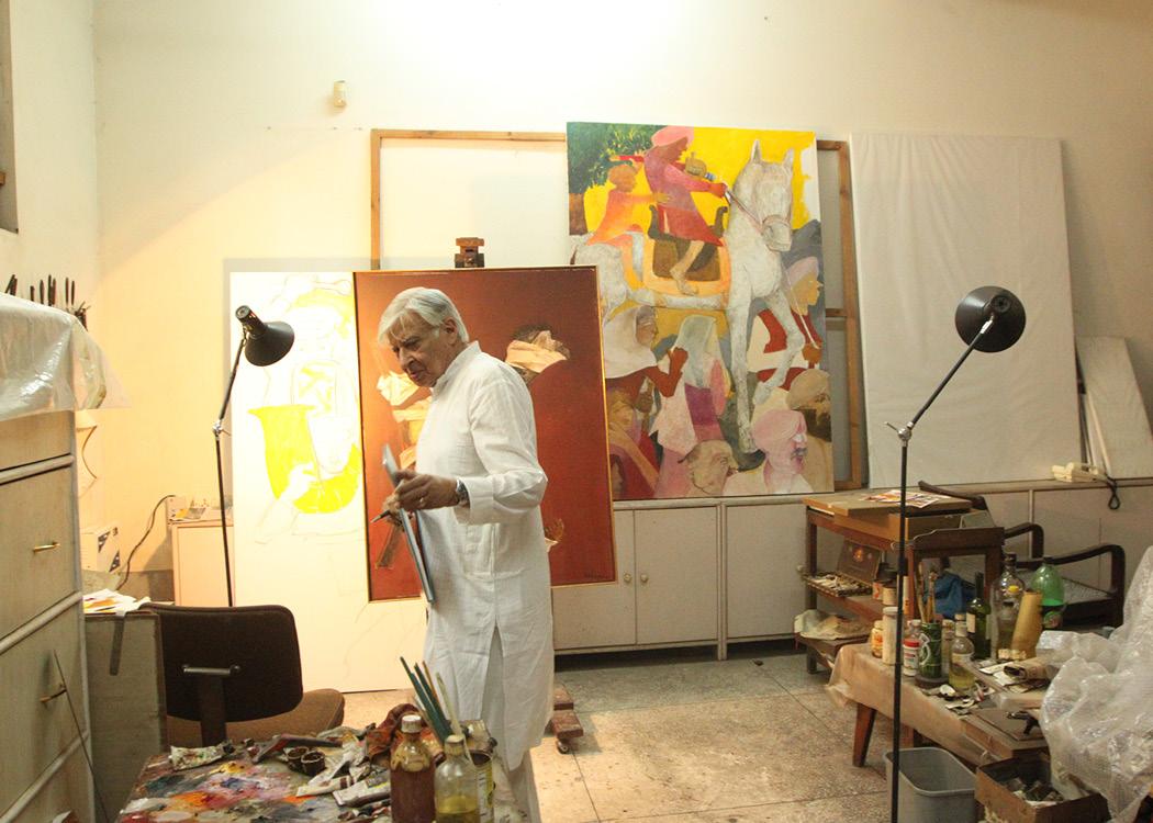 Krishen Khanna in his Gurugram studio. Courtesy of Manisha Gera Baswani