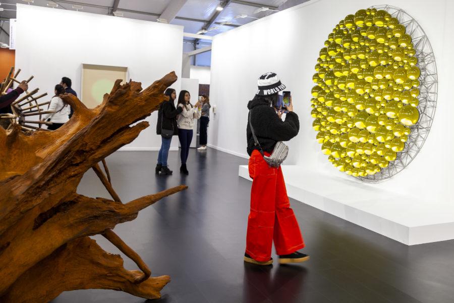 neugerriemschneider. Installation view, 2020. Courtesy of India Art Fair