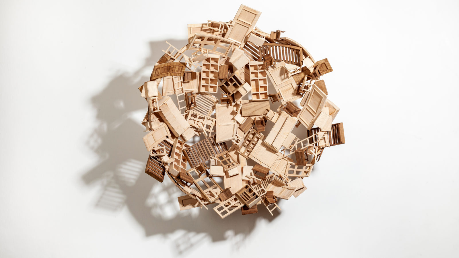 Martand Khosla. No Reason to Care, 2020. Wood and steel. Courtesy of Nature Morte