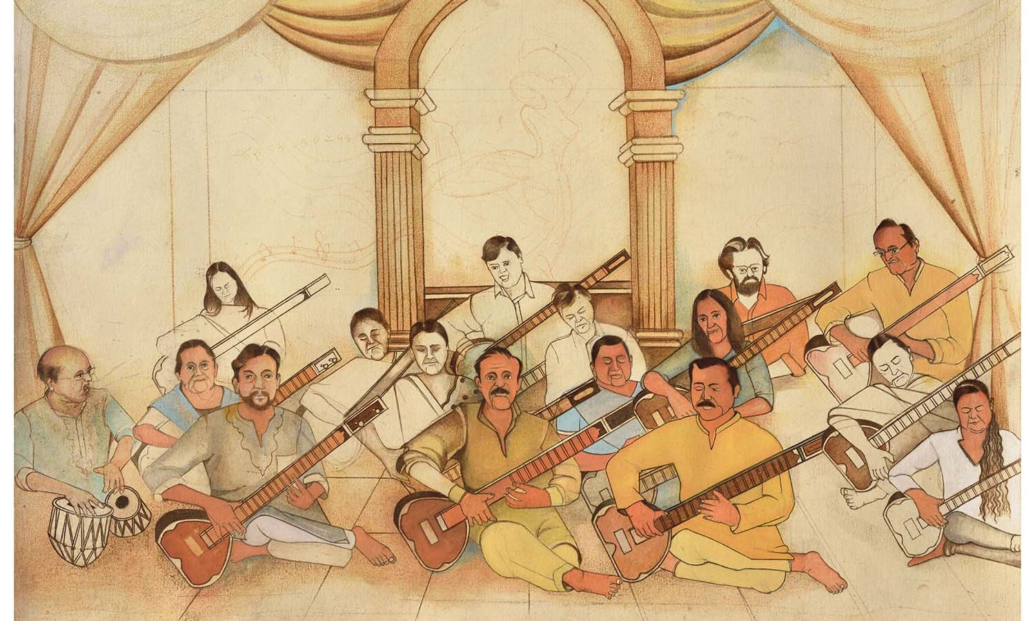 Roshan Chhabria. Indian Musicians, 2015-20. Courtesy of Sakshi Gallery