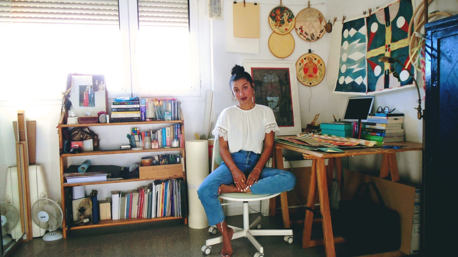 Rithika Merchant in her Barcelona studio, 2019. Courtesy of TARQ Mumbai
