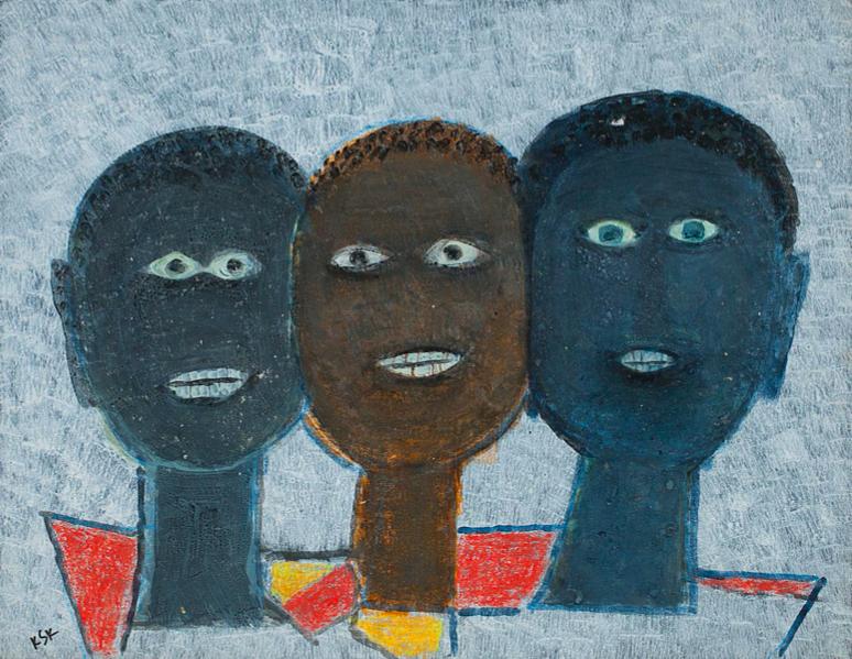 K.S.Kulkarni. Untitled, acrylic on paper pasted on mount board. Courtesy of DAG