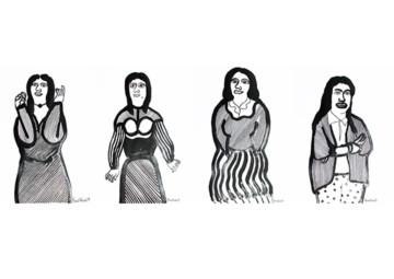Gestures: Drawings and Linocuts by Partha Pratim Deb